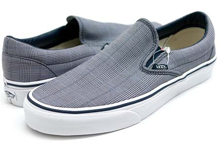 VANS CLASSIC SLIPON SCILLA PLAID [DRESS BLUES/TURE WHITE] 0LYF4I1