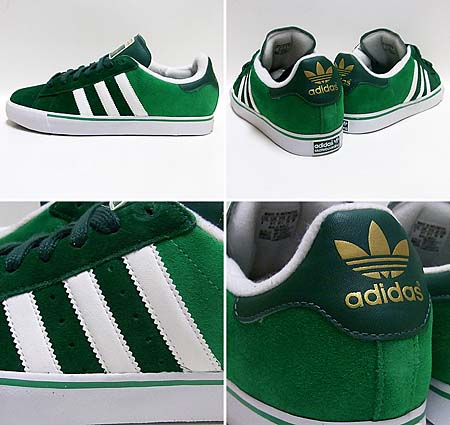 adidas SKATEBOARDING CAMPUS VULC [DARK GREEN/FRWY-WHITE] G24873 写真1