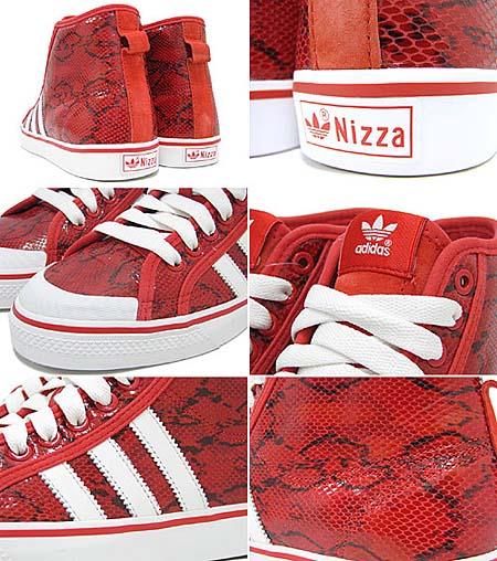 adidas NIZZA HI [RED/WHITE] G44250 写真1