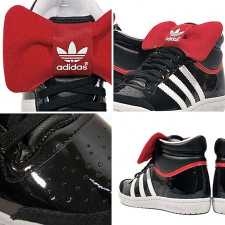 adidas TOP TEN HI SLEEK W NIGHT [BLACK 1/WHITE/REAL RED] G44417 写真1