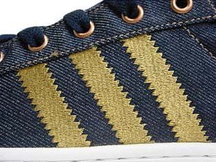 adidas SUPER STAR LITE LTO [Dk.Indigo/Wheat/White] G44716 写真2 3ストライプスは刺繍