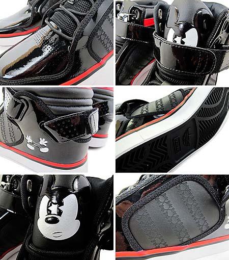 adidas × Disney adi-RISE MICKEY X [BLACK/BLACK-WHITE-RED] G48942 写真1