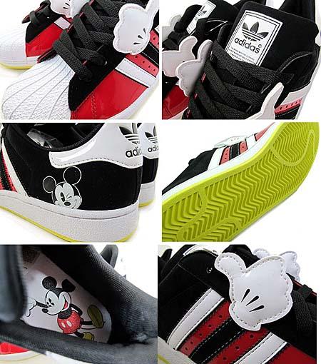 adidas × Disney SUPER STAR J MICKEY GS [RED/WHITE-BLACK] G48958 写真1