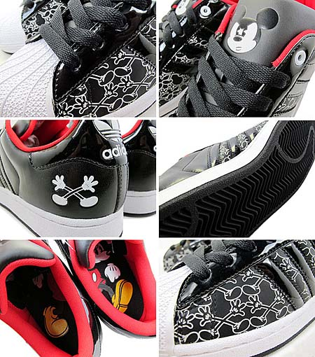 adidas × Disney SUPER STAR 2 MICKEY X [BLACK/WHITE] G48969 写真1