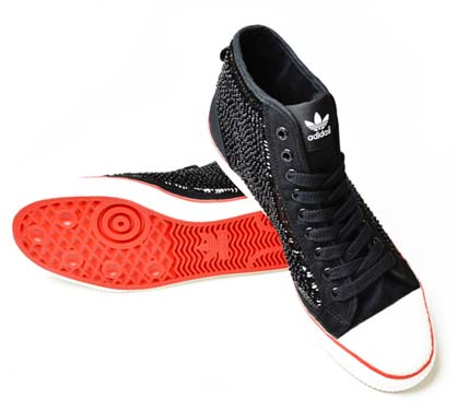 adidas JEREMY SCOTT NIZZA HI [BLACK/LEGACY/LIGHT SCARLET] G50729 写真1