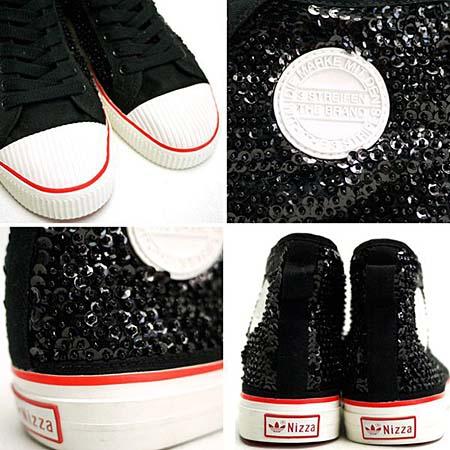 adidas JEREMY SCOTT NIZZA HI [BLACK/LEGACY/LIGHT SCARLET] G50729 写真2