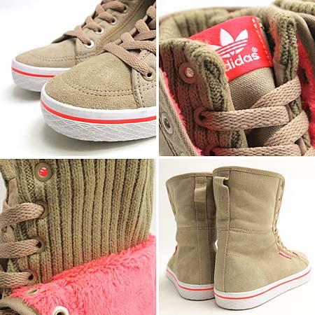 adidas HONEY HI W [BEIGE/PINK] G51069 写真1