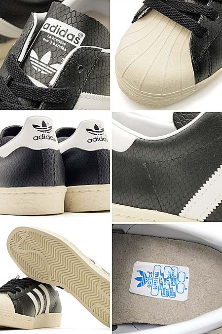 adidas SS80s G-SNK3 [BLACK/WHITE/SNAKE/GLOW] G51919 写真2