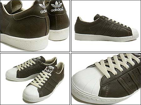 adidas Originals SUPER STAR 80s [MUSBROWN/MUSBROWN/WHITE] V23048 写真1
