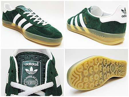 adidas GAZELLE INDOOR [FOREST/WHITE/GUM] v24909 写真2