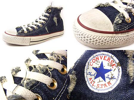 CONVERSE CHUCK TAYLOR ALL STAR SPECIALTY HI [NAVY DENIM DISTRESSED] 123147 写真1