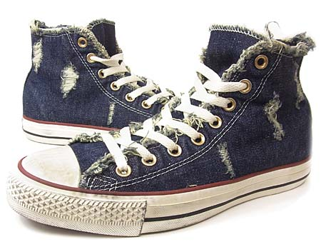 CONVERSE CHUCK TAYLOR ALL STAR SPECIALTY HI [NAVY DENIM DISTRESSED] 123147