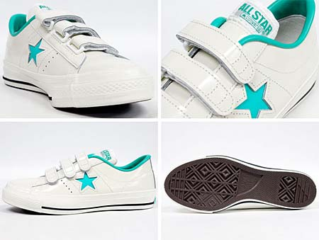 CONVERSE ONE STAR J V-3 [WHITE/LIME] 32346372 写真1