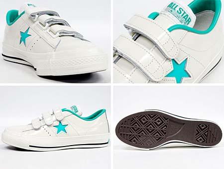CONVERSE ONE STAR J V-3 [WHITE/LIME] 32346372 写真1