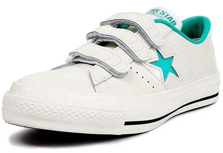CONVERSE ONE STAR J V-3 [WHITE/LIME] 32346372