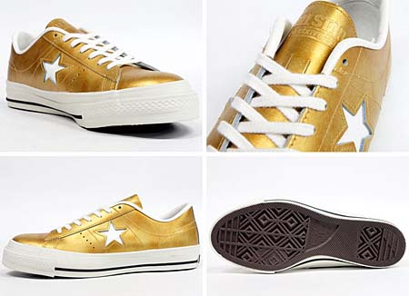 CONVERSE ONE STAR J METALLIC [GOLD] 32346389 写真1