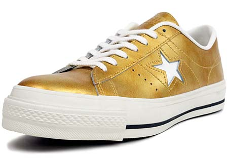 CONVERSE ONE STAR J METALLIC [GOLD] 32346389