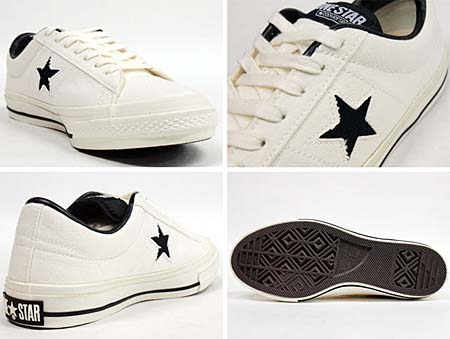 CONVERSE ONE STAR CANVAS OX [WHITE/BLACK] 32360120 写真1