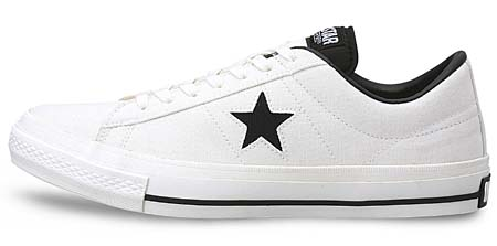 CONVERSE ONE STAR CANVAS OX [WHITE/BLACK] 32360120