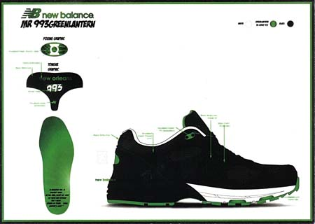new balance MR993 BG [GREEN LANTERN] MR993 BG 写真3