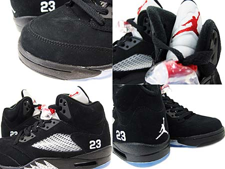 NIKE AIR JORDAN 5 RETRO [BLACK/VARSITY RED-METALLIC SILVER] 136027-010