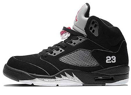 NIKE NIKE AIR JORDAN 5 RETRO [BLACK/VARSITY RED-METALLIC SILVER] 136027-010 画像
