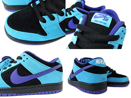NIKE DUNK LOW PRO SB [BLACK/VARSITY PURPLE-BLTC BLUE] 304292-020