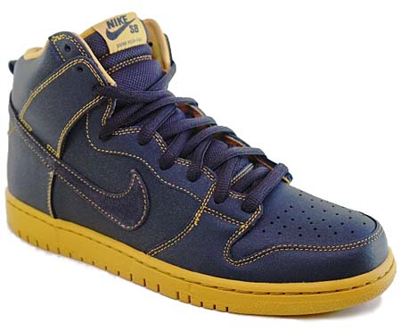 NIKE NIKE SB DUNK HIGH [ANTHRACITE/GOLDEN STRAW] 305050-007 画像