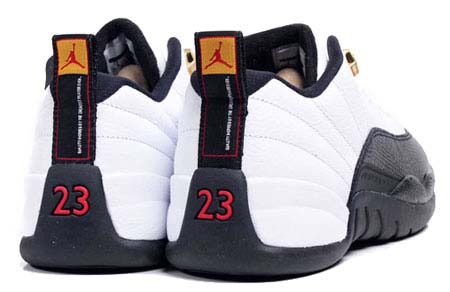 NIKE AIR JORDAN 12 RETRO LOW [WHITE/BLACK-TAXI] 308317-104
