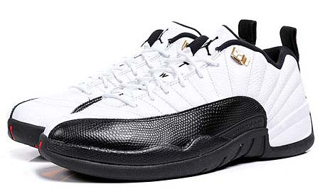 NIKE NIKE AIR JORDAN 12 RETRO LOW [WHITE/BLACK-TAXI] 308317-104 画像