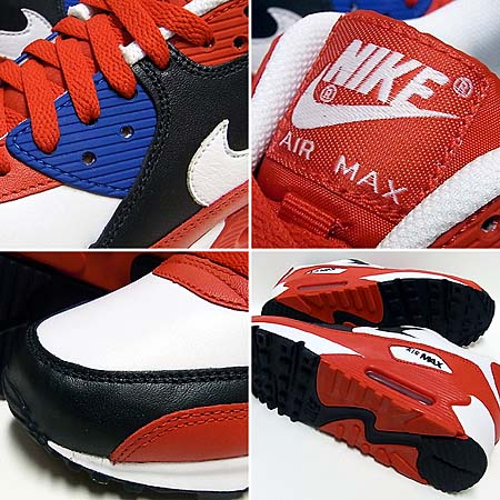NIKE AIR MAX 90 [SPORT RED/WHITE-DARK OBSIDIAN] 309299-602