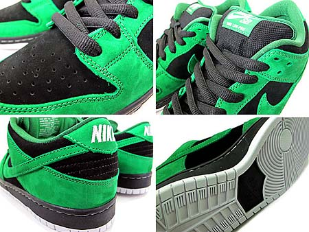 NIKE DUNK LOW PRO SB [BLACK/PINE GREEN] 313170-012