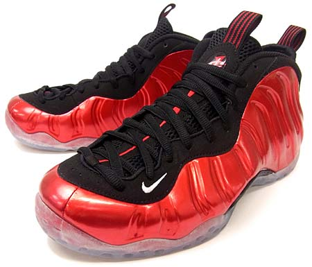 NIKE AIR FOAMPOSITE ONE LE [VARSITY RED/WHITE-BLACK] 314996-610