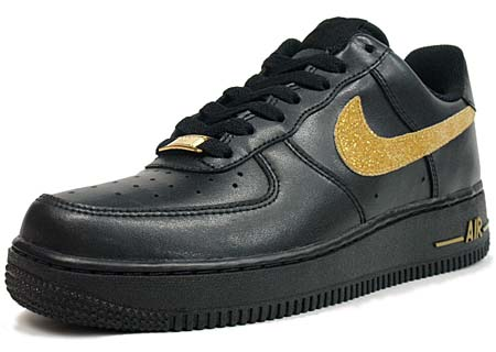 NIKE NIKE WMNS AIR FORCE 1 LOW LE [BLACK/MTLC GOLD-BLACK] 315115-018 画像