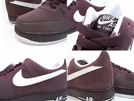 NIKE AIR FORCE 1 LOW 07 [DEEP BURGUNDY/WHITE] 315122-604