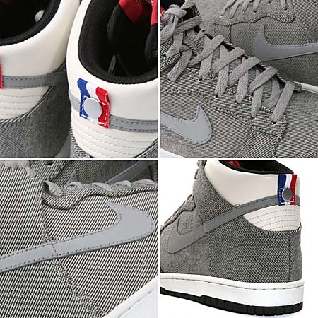 NIKE DUNK HIGH PREMIUM '08 ND [MEDIUM GRAY/SAIL-BLACK] 317892-019