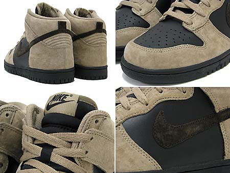 NIKE DUNK HIGH [KHAKI/VELVET BROWN-BLACK] 317982-204