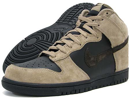 NIKE NIKE DUNK HIGH [KHAKI/VELVET BROWN-BLACK] 317982-204 画像