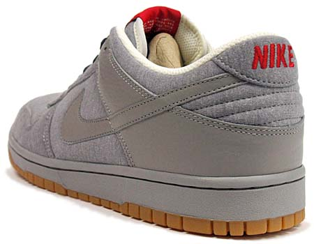 NIKE DUNK LOW 08 CL ND [MEDIUM GREY/NAVY/RED] 318020-008