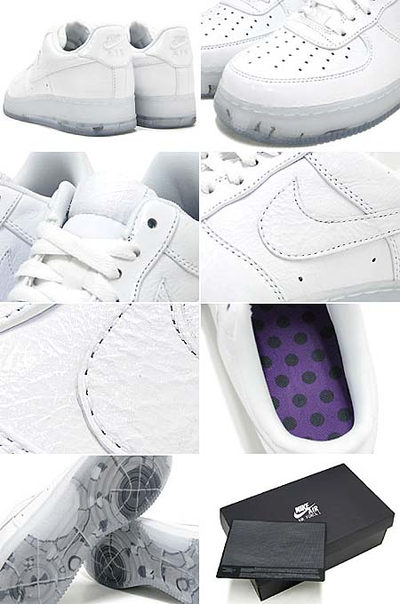 NIKE AIR FORCE 1 LOW PREMIUM [WHITE|TRUE COLORS」 318775-100