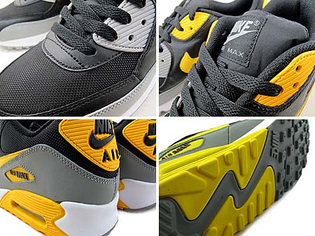 NIKE AIR MAX 90 [BLACK/VRSTY MZ-WHITE-MDM GRY] 325018-033
