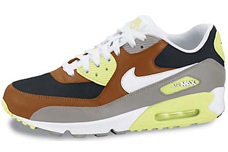 NIKE NIKE AIR MAX 90 [HAZELNUT/WHITE-BLACK-MDM GREY] 325018-203 画像