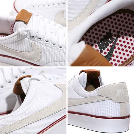 NIKE TENNIS CLASSIC AC QS [WHITE/SUMMIT WHITE-TEAM RED] 377812-105