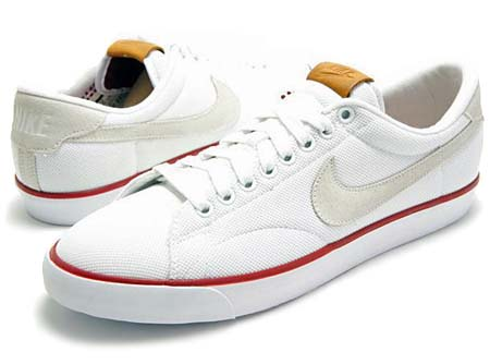 NIKE NIKE TENNIS CLASSIC AC QS [WHITE/SUMMIT WHITE-TEAM RED] 377812-105 画像