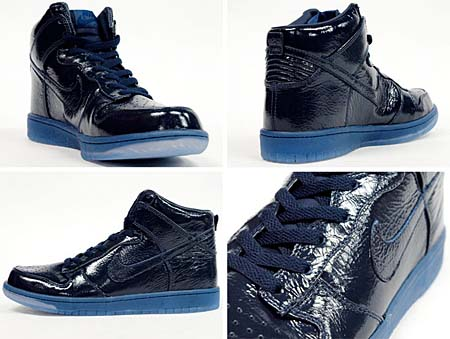 NIKE DUNK HIGH PREMIUM [OBSIDIAN/CRINKLED PATENT] 408174-401