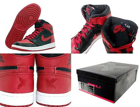 NIKE AIR JORDAN 1 RETRO HIGH BAN [BLACK/VARSITY RED-WHITE] 432001-001