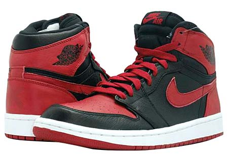NIKE NIKE AIR JORDAN 1 RETRO HIGH BAN [BLACK/VARSITY RED-WHITE] 432001-001 画像