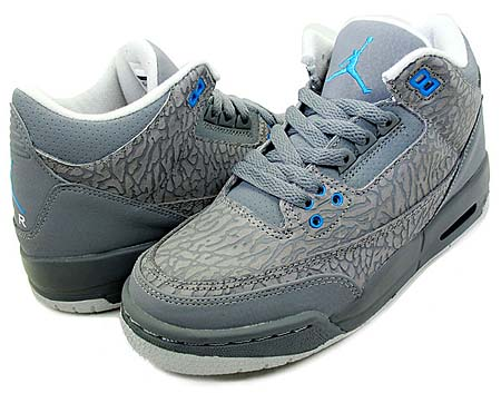 NIKE NIKE AIR JORDAN 3 RETRO GS [COOL GRAY FLIP] 441140-015 画像