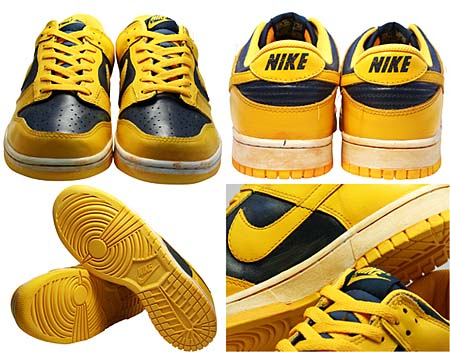 NIKE DUNK LOW VNTG [VARSITY MAIZE/MIDNIGHT NAVY] 446242-700