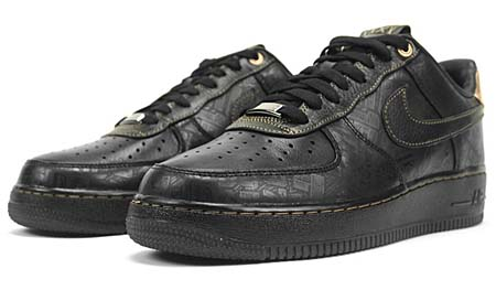 NIKE AIR FORCE 1 LOW PREMIUM [Black History Month 2011] 453419-007